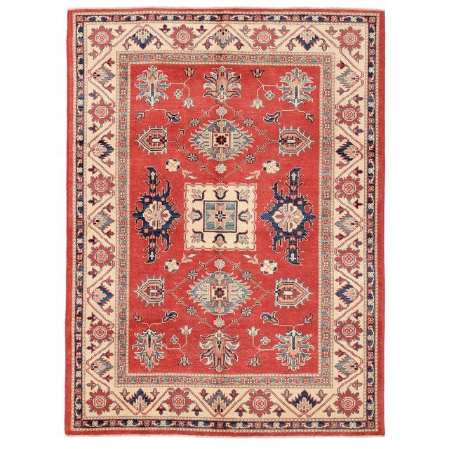"""Pasargad Kazak Wool Rug - 4' 11"""" X 6' 9"""" - Image 1 of 2"""