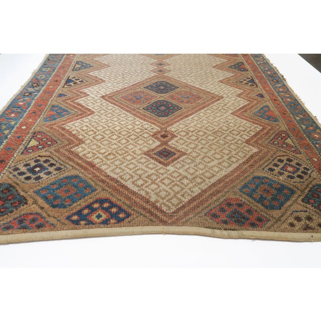 Vintage Persian Rug- 3′2″ × 4′12″ For Sale - Image 4 of 5