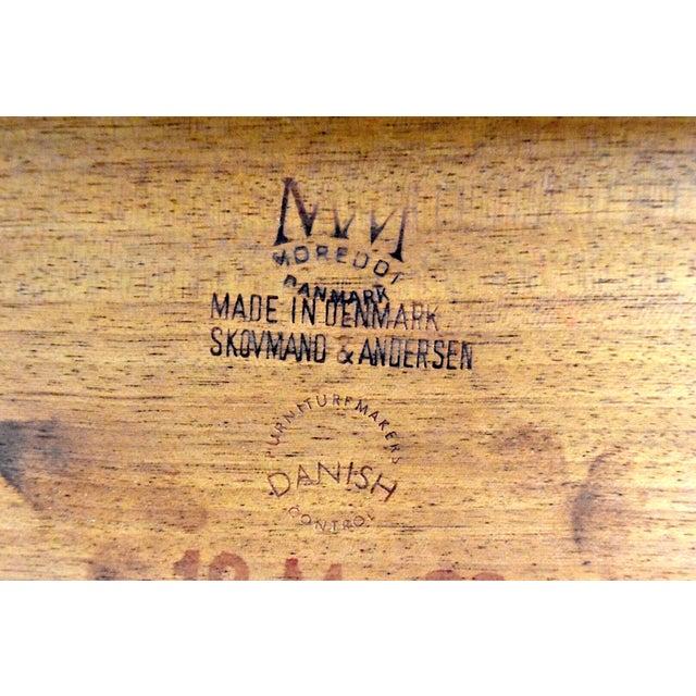 Brown Mid-Century Skovmand Andersen Teak Dining Table For Sale - Image 8 of 8