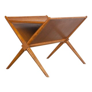 Mid Century Vintage T.H. Robsjohn-Gibbings Magazine Rack For Sale