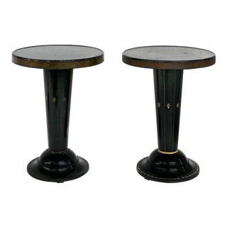 1900s Vintage Josef Hoffman Vienna Secession Wiener Werkstatte Tables- A Pair For Sale