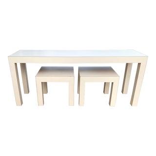 Vintage Parsons Console Tables - Set of 3