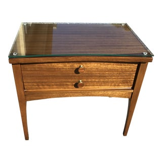 Lane Mahogany & Walnut Nightstand For Sale