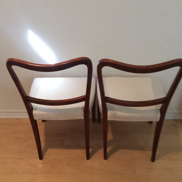 Vintage Swedish Modern Dining / Side Chairs - a Pair For Sale In Las Vegas - Image 6 of 7