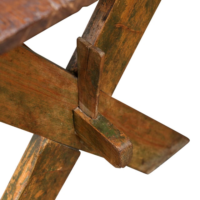 Late 19th Century Late 19th-Early 20th Century Trestle Table For Sale - Image 5 of 6