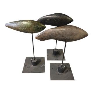 Sharon Wandell Woodstock Bronze Fish Sculptures - Set of 3 For Sale