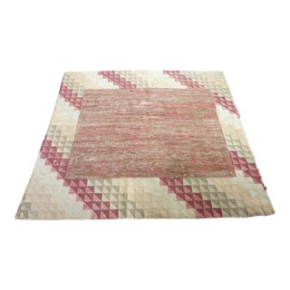 American Hooked Rug - 4′9″ × 4′9″ For Sale