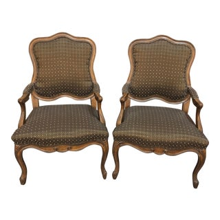 Vintage Mid Century Carson Pirie Scott Bergere Chairs- A Pair For Sale