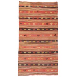 Kilim with Decorated Bands For Sale