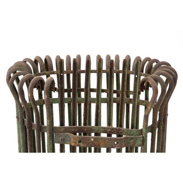 1930s Rustic Patinated Umbrella Holder For Sale - Image 5 of 6