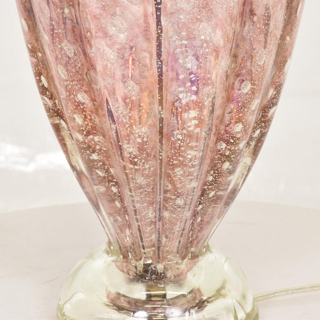 Glass Mid Century Modern Italian Murano Glass Table Lamp For Sale - Image 7 of 8