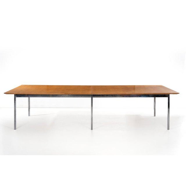 Silver Florence Knoll Custom Table For Sale - Image 8 of 10
