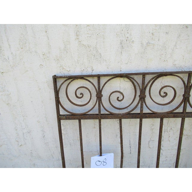 Traditional Antique Victorian Iron Gate For Sale - Image 3 of 6