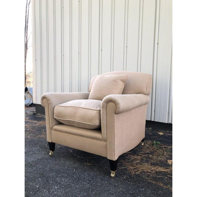 George Smith George Smith Full Scroll Arm Chair With Slipcover For Sale - Image 4 of 11