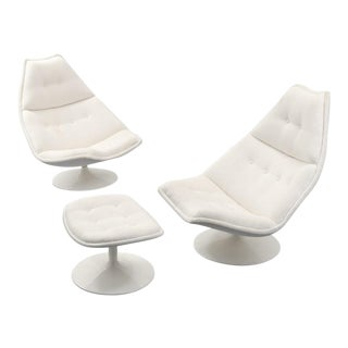 Geoffrey Harcourt Lounge Chairs & Ottoman - Set of 3 For Sale
