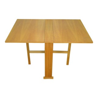 Mid Century Modern Narrow Drop Leaf Dining Table For Sale