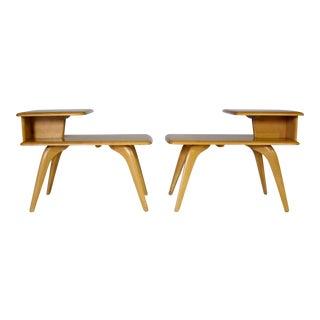 Heywood Wakefield 2-Tier Side Tables - A Pair