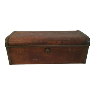 Late 19th Century Mahogany and Brass Strong Box Documents For Sale