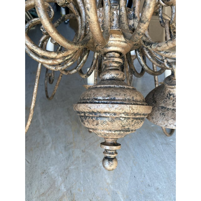 1950s French 20-Arm Chandelier For Sale In West Palm - Image 6 of 7