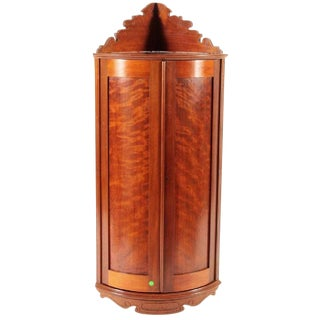 1860 Victorian Hanging Corner Cabinet For Sale
