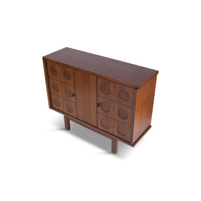 Midcentury Belgian Brutalist Oak Cabinet For Sale - Image 6 of 9