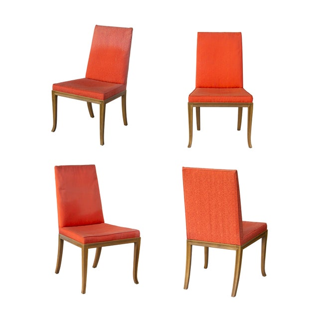 Dining Chairs by t.h. Robsjohn-Gibbings for Baker - Set of 4 For Sale - Image 6 of 11