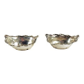Whiting Sterling Nut Dishes - a Pair For Sale