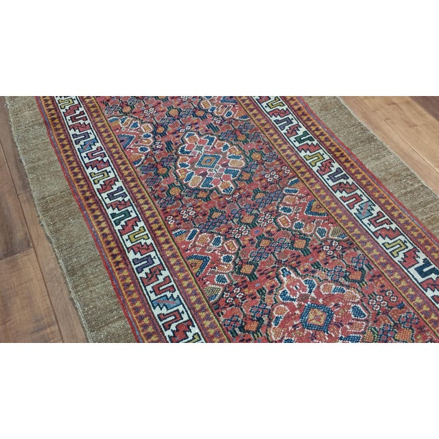 Islamic Antique Persian Hamadan Runner For Sale - Image 3 of 3