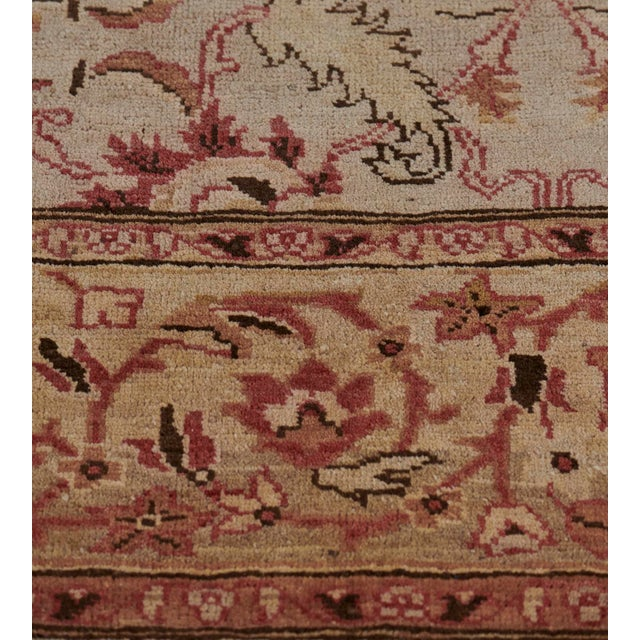 2000 - 2009 Handwoven Revival Agra Style Wool Rug For Sale - Image 5 of 13