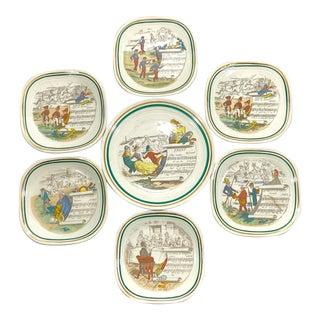French Opera Plates, Set of 7 For Sale