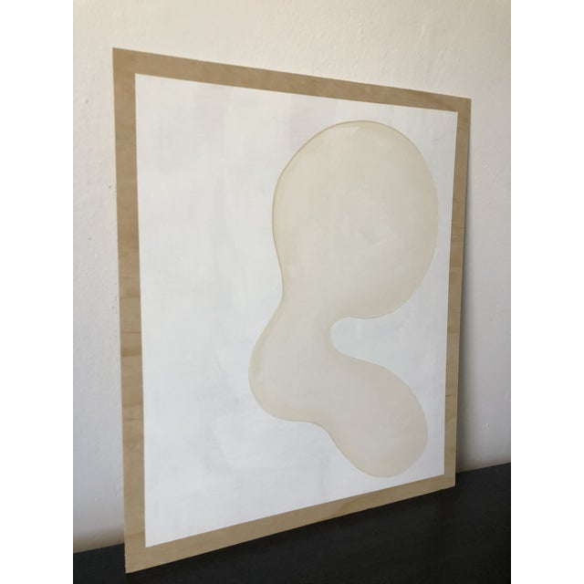Abstract Self Portrait Acrylic on Plywood For Sale - Image 3 of 11