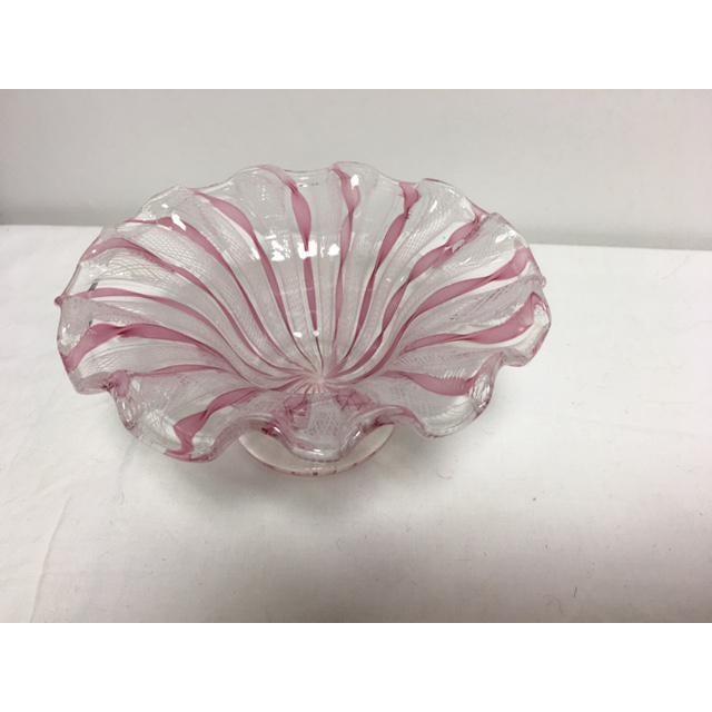 Murano Latticino Glass Bowl For Sale In Chicago - Image 6 of 6
