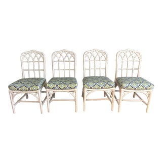 McGuire Vintage Cathedral Dining Chairs For Sale