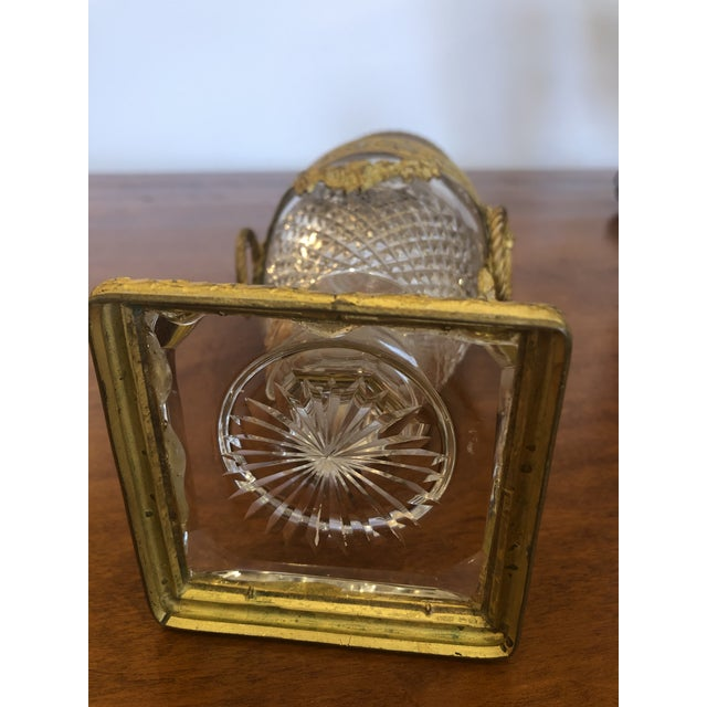 French Cut Crystal and Ormolu Mounted Vase For Sale In Philadelphia - Image 6 of 8