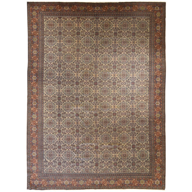 Antique Persian Tabriz Carpet For Sale