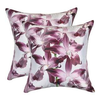Orchid Autumnus Pillows - a Pair For Sale