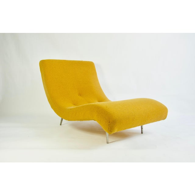 Yellow Adrian Pearsall for Craft Associates Chaise Lounge For Sale - Image 8 of 8