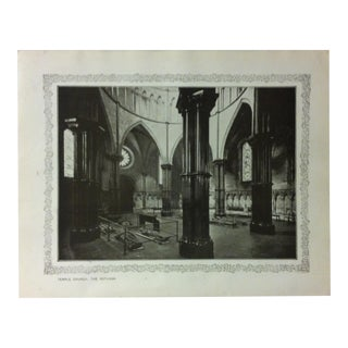 """1906 """"Temple Church - the Rotunda"""" Famous View of London Print For Sale"""