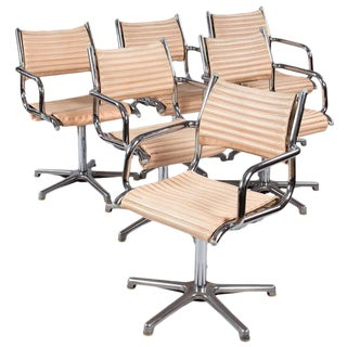 Set of 6 1970's Chrome Armchairs by Olymp, Germany