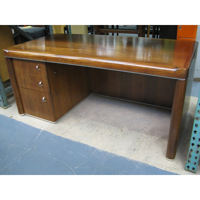 Art Deco Art Deco Walnut Desk For Sale - Image 3 of 9