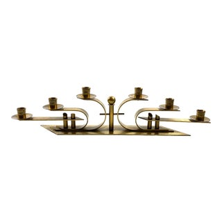 1930s Bauhaus Brass Candle Holder, Germany For Sale