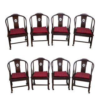 Henredon Elm Wood Dining Chairs - Set of 8