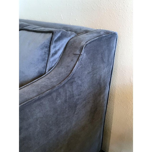 Mid-Century Modern Empiric Evansville Fog Blue Sofa For Sale - Image 3 of 4
