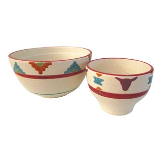 1980s Saratoga Southwestern Bowls, a Pair For Sale