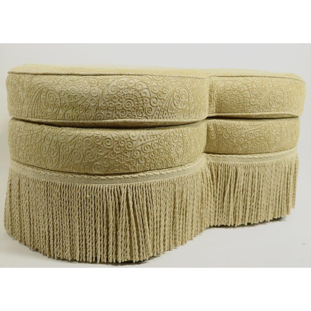 Fringed Cloverleaf Ottoman by Hickory Furniture For Sale - Image 10 of 12