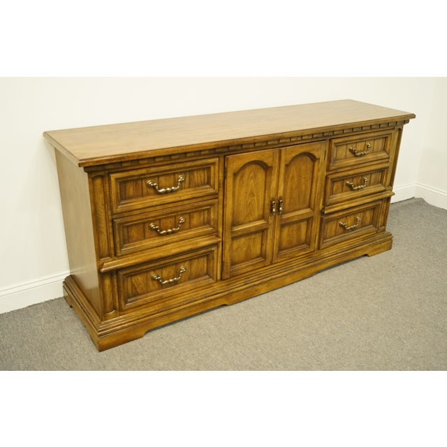 Traditional 20th Century Italian Dixie Furniture Triple Door Dresser For Sale - Image 3 of 13