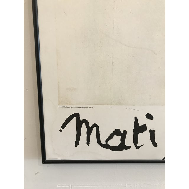 1985 Framed Matisse Louisiana Exhibition Poster For Sale - Image 9 of 10
