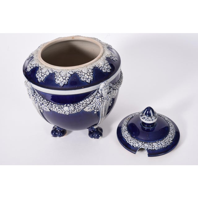German Porcelain Covered Decorative Piece For Sale - Image 4 of 10