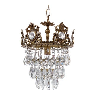 Gothic Styled Upside Down Layered Chandelier For Sale