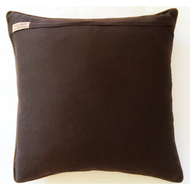 Chocolate & Gold Silk Pillow Cover - Image 3 of 3